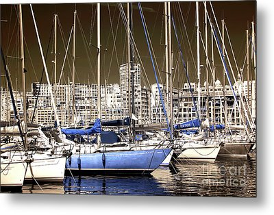 Standing Out In Marseille Metal Print by John Rizzuto