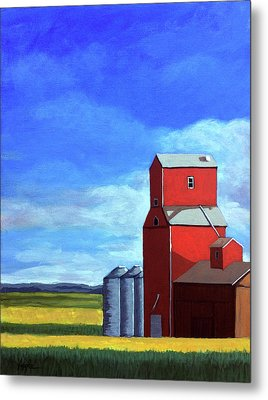 Metal Print featuring the painting Standing Tall by Linda Apple