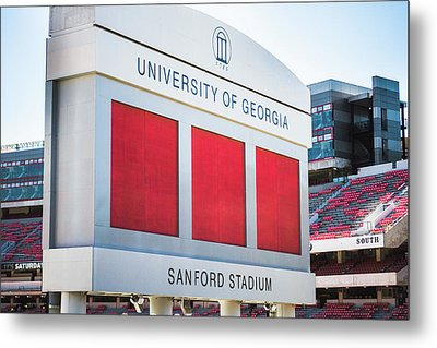 Metal Print featuring the photograph Standing Tall Over Sanford Stadium  by Parker Cunningham