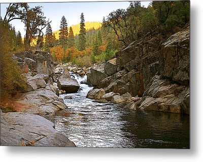 Metal Print featuring the painting Stanislaus Fall Sunset Looking East by Larry Darnell