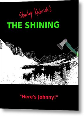 Stanley Kubricks The Shining Movie Poster Metal Print by Enki Art