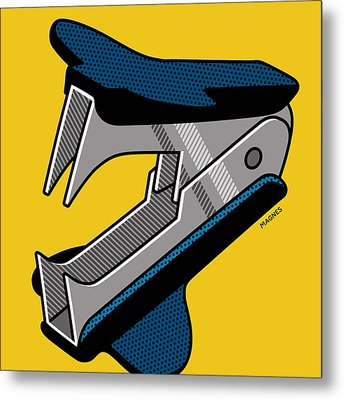 Metal Print featuring the digital art Staple Remover by Ron Magnes