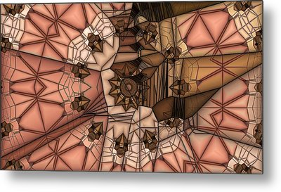 Stapped Together Metal Print by Ron Bissett