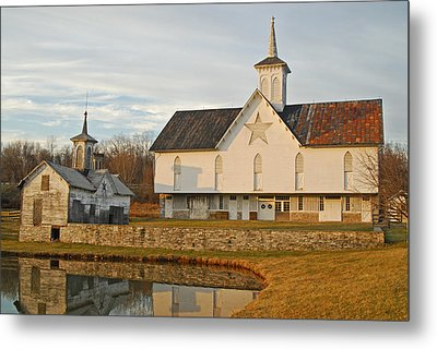 Star Barn Sunset Metal Print