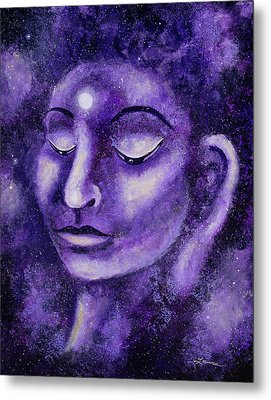 Star Buddha Of Purple Patience Metal Print by Laura Iverson
