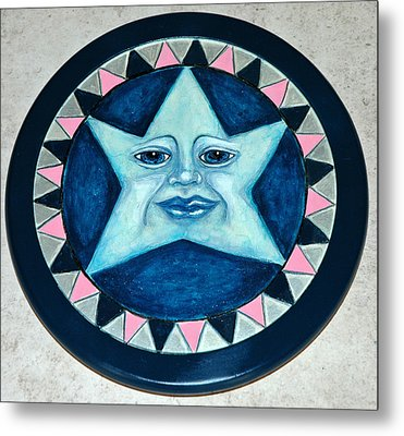 Star Face Lazy Susan Metal Print by Mickie Boothroyd