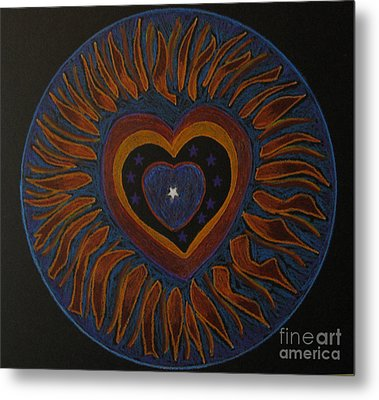 Star In My Heart Metal Print by Patricia Januszkiewicz