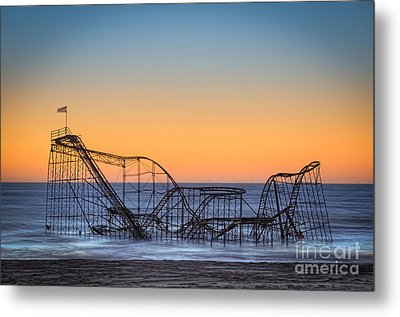 Star Jet Roller Coaster Ride  Metal Print by Michael Ver Sprill