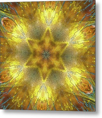 Star Kaleidoscope Metal Print by Wim Lanclus