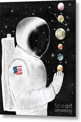 Metal Print featuring the painting Star Man by Bri B