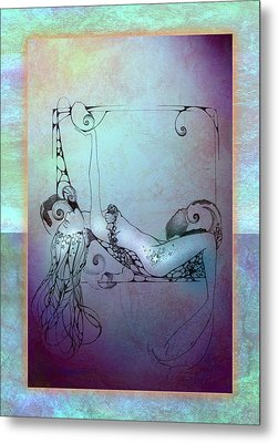 Star Mermaid Metal Print