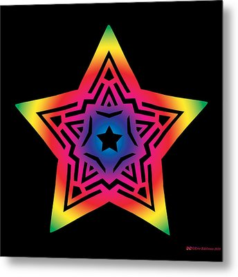 Star Of Gratitude Metal Print by Eric Edelman