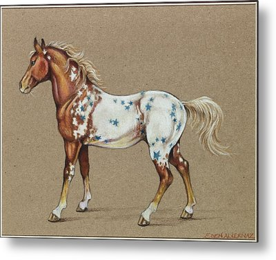 Star Spangled Horse Metal Print by Eden Alvernaz
