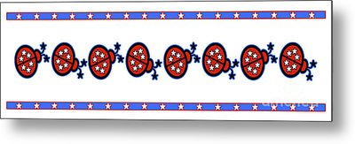 Metal Print featuring the digital art Star-spangled Lady Bugs by Methune Hively