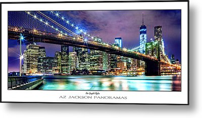 Star Spangled Skyline Poster Print Metal Print by Az Jackson