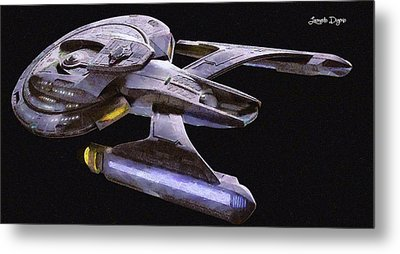 Star Trek Luna Metal Print