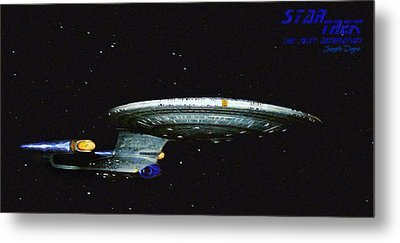Star Trek The Next Generation - Da Metal Print by Leonardo Digenio