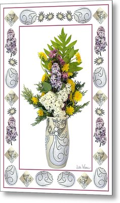 Star Vase With A Bouquet From Heaven Metal Print by Lise Winne