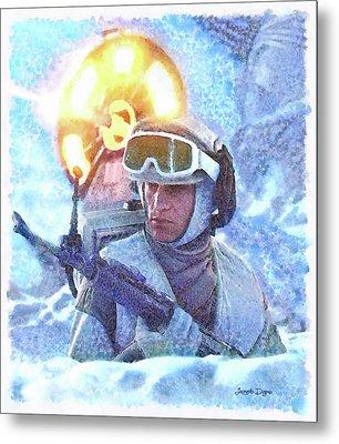 Star Wars Battle Of Hoth - Watercolor Over Paper Metal Print by Leonardo Digenio