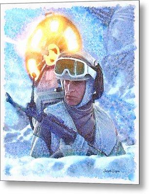 Star Wars Battle Of Hoth  - Watercolor Style -  - Da Metal Print by Leonardo Digenio