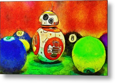 Star Wars Bb-8 And Friends - Pa Metal Print