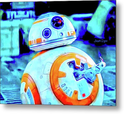 Star Wars Bb-8 Thumbs Up - Vivid Aquarell Style Metal Print by Leonardo Digenio