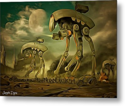 Star Wars Cockroaches Armour Metal Print