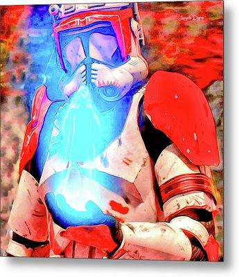 Star Wars Commander Receiving Order 66 Metal Print by Leonardo Digenio