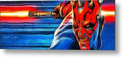 Star Wars Darth Maul - Da Metal Print