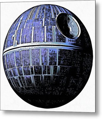 Star Wars Deathstar Graphic Metal Print