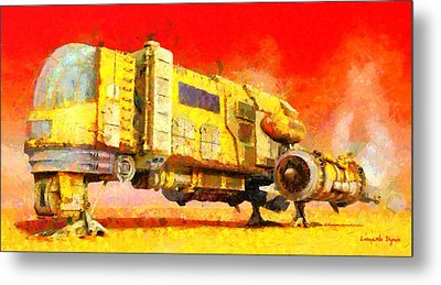 Star Wars Desert Transport Ship - Da Metal Print