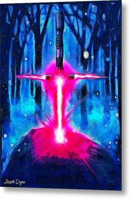 Star Wars Excalibur - Da Metal Print