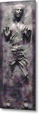 Star Wars Han Solo Frozen In Carbonite - Pa Metal Print