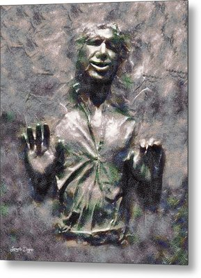 Star Wars Han Solo In Carbonite - Pa Metal Print