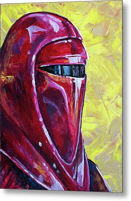 Metal Print featuring the painting Star Wars Helmet Series - Imperial Guard by Aaron Spong