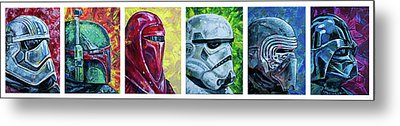 Metal Print featuring the painting Star Wars Helmet Series - Panorama by Aaron Spong