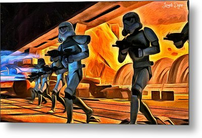 Star Wars Invasion - Da Metal Print