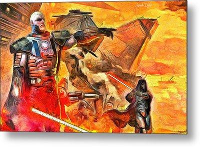 Star Wars Lord Of War - Da Metal Print