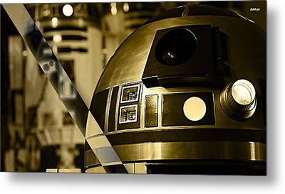 Star Wars R2d2 Collection Metal Print by Marvin Blaine