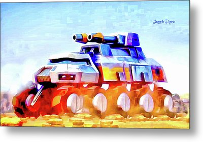 Star Wars Rebel Army Armor Vehicle - Aquarell Vivid Style Metal Print