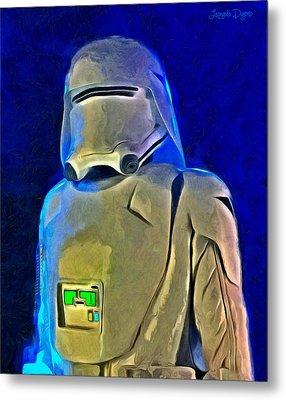 Star Wars Snowtrooper - Pa Metal Print by Leonardo Digenio