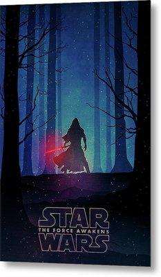 Star Wars - The Force Awakens Metal Print by Farhad Tamim