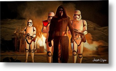 Star Wars The Force Awakens Metal Print by Leonardo Digenio