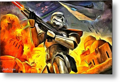 Star Wars The Invasion - Da Metal Print by Leonardo Digenio