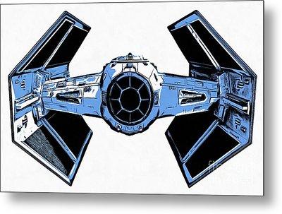 Star Wars Tie Fighter Advanced X1 Metal Print by Edward Fielding