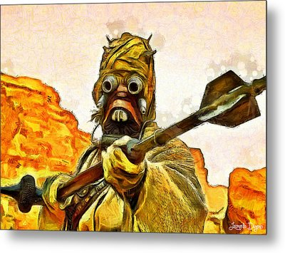 Star Wars Warrior - Da Metal Print by Leonardo Digenio