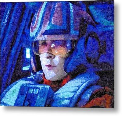 Star Wars Yolo Ziff Rebel Pilot - Pa Metal Print by Leonardo Digenio