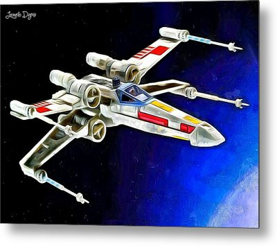 Starfighter X-wings - Da Metal Print