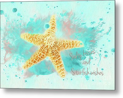 Metal Print featuring the photograph Starfish Wishes by Darren Fisher