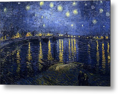 Starry Night Over The Rhone Metal Print